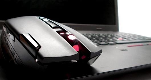 souris gaming sur laptop